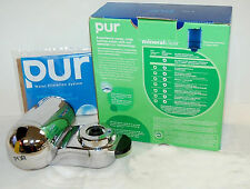 PUR FM-9400B Mineral Clear Water Filtration System Faucet Mount Chome NO FILTER