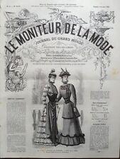 LE MONITEUR DE LA MODE 1891 N 40 TOILETTES DE PROMENADE. DESSIN DE G. GONIN