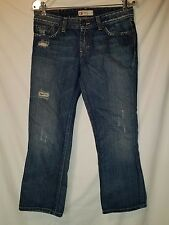 Buckle BKE Element womens Distressed   Jeans HEMMED SHORTER Size 29 EUC