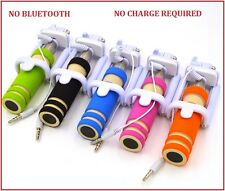 Mini Portable Wired AUX Selfie Stick for iPhone, Android, Windows Phone