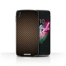 STUFF4 Case/Cover for Alcatel OneTouch Idol 3 4.7/Carbon Fibre Effect/Pattern