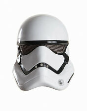 Force Awakens Costume Mask, Mens Star Wars Stormtrooper 1/2 Front Mask, Age 14+
