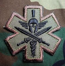 SPARTAN ARMY MEDIC EMT EMS US ARMY MILITARY MILSPEC MORALE FOREST HOOK PATCH