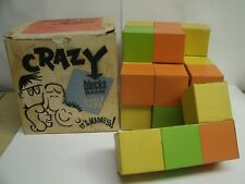 Vintage CARDBOARD Crazy Blocks game - Harvey Ent. - 1st Rubik's Cube????