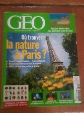 GEO 379  Septembre 2010 Ou trouver la nature à Paris