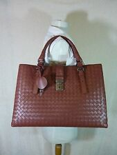 2016 NWT Bottega Veneta Medium Roma Bag In Russet Intrecciato Calf Leather $3750