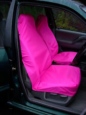 Pair of Bright Pink Waterproof Car / Van Front Seat Covers & Free P&P  UK Made