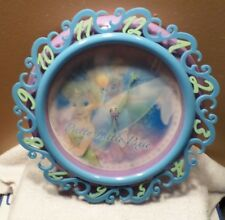 Disney Fairies Tinkerbell Hologram Wall Clock Pretty Pixie Purple Blue Quartz