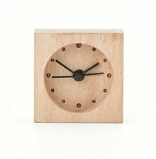 Kikkerland LARGE BEECH WOOD WOODEN Alarm Clock CL58 uses AA battery