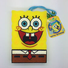 Shower Bath Body Scrub Puff Sponge SpongeBob Kids Bathroom Friends YELLOW