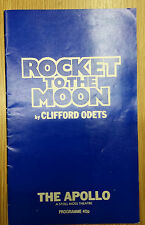 1982 Apollo Theatre: David Burke & Annabel Leventon in ROCKET TO THE MOON