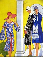 Femenil Art Deco SUMMER DRESSES LOW WAISTED 1926 Spanish Fashion Ad Matted