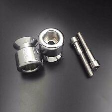 X. Swingarm Spools for Kawasaki Ninja 250 ZZR600 650R Z1000 ZRX1200 ZX12R Chrome
