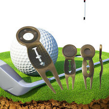 Silver Golf Divot Golf Ball Marker Repair Tool Pitch Fork Ball Alignment Issue