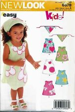 NEW LOOK SEWING PATTERN 6578 TODDLERS/GIRLS ½-4 EASY A-LINE SLEEVELESS DRESSES