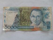 Brazil 5 Cruzados novos on 5000 Cruzados