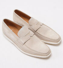 New $695 SUTOR MANTELLASSI Beige Suede Penny Loafer w/ Rubber Sole US 9 D Shoes
