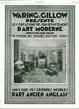 """Publicité Ancienne """" Meubles d'Art Anglais 1929 ( P 37 )"""