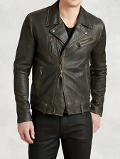 FINAL PRICE: John Varvatos Spray Dye Assym Leather Jacket New/Dustbag IT50/UK40