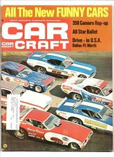 Car craft june 1971 funny cars-HP for mopar 383-camaro hop up-talk hemis