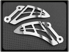 HEEL PLATES for TRIUMPH SPEED TRIPLE 1050 (POLISHED REARSET FOOTPEG GUARDS)