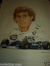 AYRTON Senna la legenda firmato Craig Warwick stampa WILLIAMS FW15 LIMITED EDITION