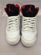 Nike Air Jordan 5 V Retro Fire Red 5 Red Black Tongue Size 10.5 136027-120