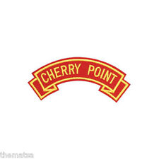 MARINE CORPS CHERRY POINT  MILITARY EMBROIDERED USMC RED SHOULDER ROCKER PATCH