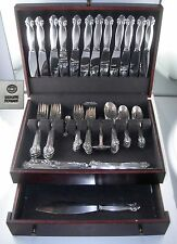 RARE Sterling Georg Jensen BITTERSWEET 72 piece flatware set (1939)
