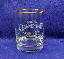 Old Grand-Dad Whiskey Gold Rimmed Rocks Glass Spirit of America Eagle
