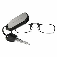 ThinOPTICS Keychain Reading Glasses Black Frame 1.50 Strength + Case Included