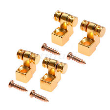 2 Pairs Roller design Strat Guitar String Tree Retainer Gold High Quality