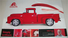 1956 Ford F-100 Pickup truck print  (modified, red)