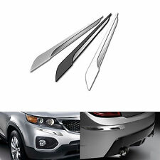 STATUS Car Slim Edge Eye-Line Bumper Guard Protector for All Vehicle Silver 4pcs