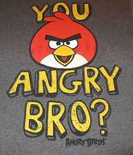 ANGRY BIRDS YOU ANGRY BRO? T-SHIRT XL X-LARGE TEE LICENSED BY ROVIO