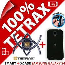 NUOVO Tetrax Bundle SMART AUTO Vent Holder + XCASE (nero) per Samsung Galaxy S4