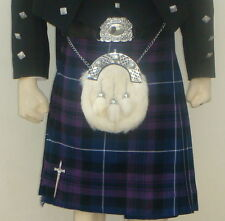 Scottish | Pride of Scotland Tartan Heavy Kilt & Kilt Pin | Geoffrey