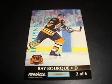 1992-93 Team Pinnacle Ray Bourque & Chris Chelios #2 Boston Bruins / Blackhawks