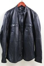 John Varvatos Star USA Leather Shirt Jacket Size XL