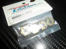 GPM MTX3010 hexagones de roue aluminium gold (x4)  MUGEN MTX3