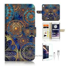 OPPO F1 Flip Wallet Case Cover! S8500 Abstract Flower