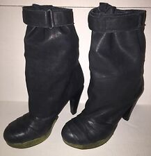 VPL LD TUTTLE BLACK LEATHER SLOUCHY BOOTS SIZE ITA 39 WOMEN'S SIZE 8 EXCELLENT