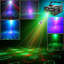 5 Lens 80 RGB Gobos Laser Projector Blue LED Lights DJ Party Xmas Stage Lighting
