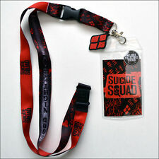 Suicide Squad Harley Quinn GoodNight Lanyard Necklace ID Holder Keychain Sticker