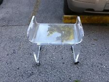 SUPER MOD SPACE AGE GHOST LIKE 70'S  ALI BABA ALLADIN LUCITE BENCH