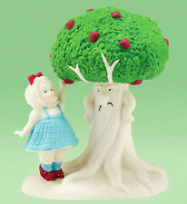 * Dept 56 SNOWBABIES Figurine WIZARD OF OZ Snow Baby DOROTHY Apple Tree Fruit