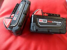 2X Milwaukee M18 Li-Ion Batteries Red Lithium XC Battery 48-11-1828,48-11-1820