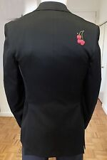 Duckie Brown Men's black jacket 38R, w/hand embroidery, sample