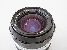 Nikon NIKKOR 24mm f/2.8 Non-Ai Lens ~ MINT ~ FREE Shipping