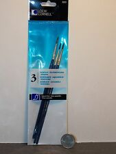 Paint Brush Set to Paint Dollhouse Miniature 3 Sable Brush Loew Cornell 2022  Y1